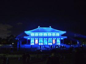 中金堂ライトアップ